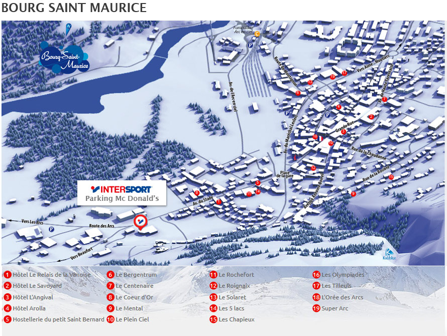 Plan d'accès Intersport Bourg Saint Maurice